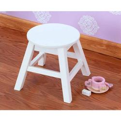 KidKraft 15211, Small Round Stool - White