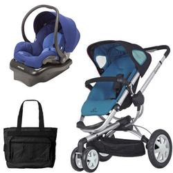 Quinny CV155BFWKT2 Buzz 3 Travel System in Blue Scratch with Diaper Bag
