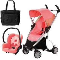 Quinny CV080BFXKT2 Zapp Xtra Travel system with diaper bag and car seat - Pink Blush