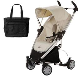 Quinny Zapp Xtra Stroller - Natural Mavis with diaper bag