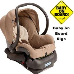 Maxi-Cosi IC099WBN Mico Infant Car Seat w/Baby on Board Sign - Walnut Brown