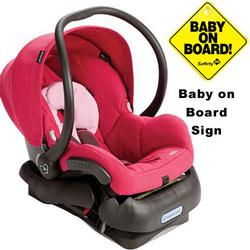Maxi-Cosi IC099BGW Mico Infant Car Seat w/Baby on Board Sign - Sweet Cerise