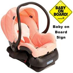 Maxi-Cosi IC099BIP Mico Infant Car Seat w/Baby on Board Sign - Leopard Pink