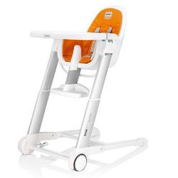 Inglesina AZ90D3OR8US, Zuma white highchair - Orange