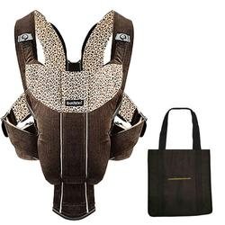 Baby Bjorn 026142US Baby Carrier Active with carry Tote Bag - Dark Brown/Flowery Corduroy