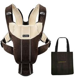 Baby Bjorn 026143US Baby Carrier Active with carry Tote Bag - Dark Brown/Beige Corduroy