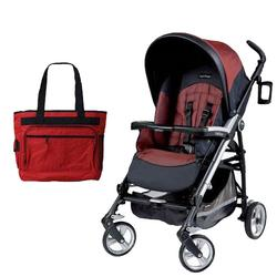 Peg Perego Pliko Four with a Diaper Bag - Boheme