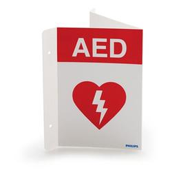 Philips 989803170921 AED Wall Sign - Red