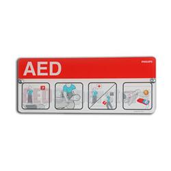 Philips 989803170901 AED Awareness Placard - Red