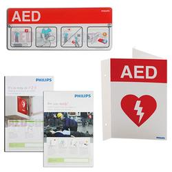 Philips 861478 AED Awareness Sign Bundle - Red