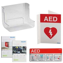 Philips 861477 AED Wall Mount and Signage Bundle