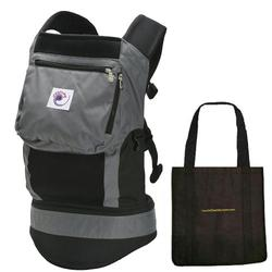 Ergo Baby BCP02500, Performance Carrier With a Tote Carry Bag - Charcoal Black
