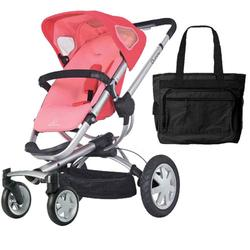 Quinny CV155BFX Buzz 4 Stroller - Pink Blush With a Diaper Bag