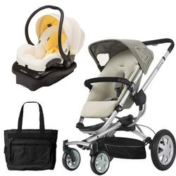 Quinny CV155BFY Buzz 4 Travel System in Natural Mavis with a Diaper Bag