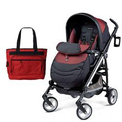 Peg Perego Switch Four with a Diaper Bag - Boheme
