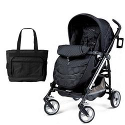 Peg Perego Switch Four with a Diaper Bag - Pois Black