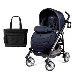 Peg Perego Switch Four with a Diaper Bag - Zaffiro Sapphire