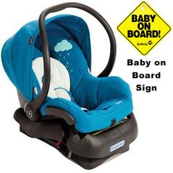 Maxi-Cosi IC099BIO Mico Infant Car Seat w/Baby on Board Sign - Misty Blue