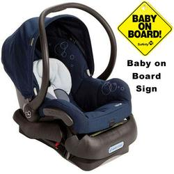 Maxi-Cosi IC099BIH Mico Infant Car Seat w/Baby on Board Sign - Dress Blue