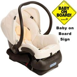Maxi-Cosi IC099BIQ Mico Infant Car Seat w/Baby on Board Sign - Natural Bright