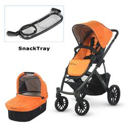 UPPAbaby 0112-DRW Drew VISTA Stroller with SnackTray - Tangerine (Graphite Frame)