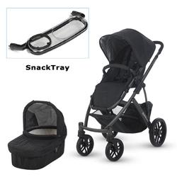 UPPAbaby 0112-JKE Jake VISTA Stroller with SnackTray - Black (Graphite Frame)