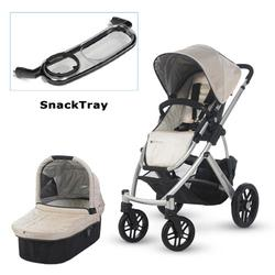 UPPAbaby 0112-LSY Lindsey VISTA Stroller with SnackTray - Wheat