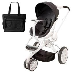 Quinny CV078BIK Moodd Stroller in Black Irony With a Diaper Bag