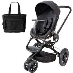 Quinny CV078BFO Moodd Stroller in Black Devotion With a Diaper Bag