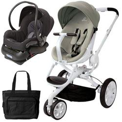 Quinny Moodd Stroller Travel system with diaper bag and car seat - Natural Delight