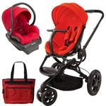 Quinny CV078BHR Moodd Stroller Travel system with diaper bag and car seat - Red Envy