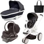 Quinny Moodd Stroller Travel System and Bassinet in Black Irony with Bag