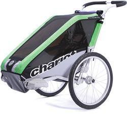 Chariot 10100810, Cheetah 2 Chariot's lightweight model 2 child CTS Chassis only - Green/black/silver