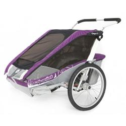 Chariot 10100520, Cougar 1 Chariot's deluxe model 1 child CTS Chassis only - Purple/Silver/Grey
