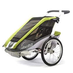 Chariot 10100521, Cougar 1 Chariot's deluxe model 1 child CTS Chassis only - Avocado/Silver/Grey