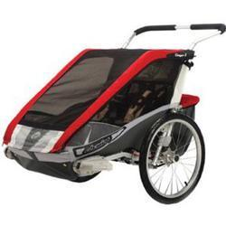 Chariot 10100917, Cougar 2 Chariot's deluxe model 2 child CTS Chassis only - Red/silver/grey