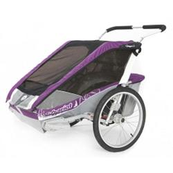 Chariot 10100918, Cougar 2 Chariot's deluxe model 2 child CTS Chassis only - Purple/Silver/Grey