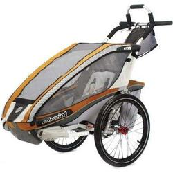 Chariot 10101309, CX 2 Chariot's ultra deluxe 2 child CTS Chassis only - Copper/Grey/Silver