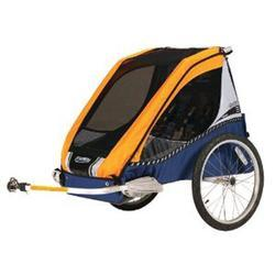 Chariot 10100138, Cabriolet 2 child CTS model bicycle trailer - Gold/Silver/Navy