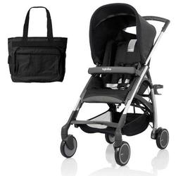 Inglesina AG54D5BLKUS AVIO Stroller with Diaper Bag - Black