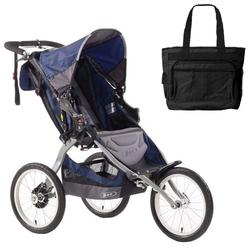 BOB ST1007, Ironman Single Stroller with Diaper Bag - Navy