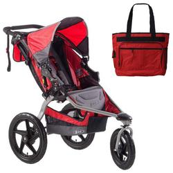 BOB ST1031, Stroller Strides Fitness Stroller with Diaper Bag - Red