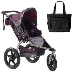 BOB ST1024, Revolution SE Single Stroller with Diaper Bag - Plum