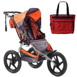 BOB ST1002, Sport Utility Stroller with Diaper Bag - Orange