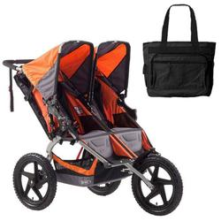 BOB ST1011, Sport Utility Stroller Duallie with Diaper Bag - Orange