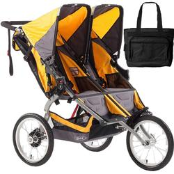 BOB Ironman Duallie Double Stroller with Diaper Bag - Yellow