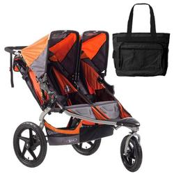 BOB ST1042, Revolution SE Duallie Stroller with Diaper Bag - Orange