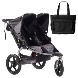 BOB ST1043, Revolution SE Duallie Stroller with Diaper Bag - Black