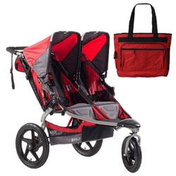 BOB ST1051, Stroller Strides Fitness Stroller Duallie with Diaper Bag - Red