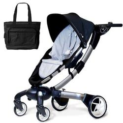 4moms 4M00601 Origami power-folding stroller with Diaper Bag - Silver